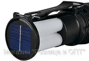 Фонарик YJ 2881T + солнечная панель + с Аккумулятором!Акция, фото 2