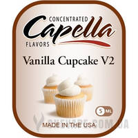 Ароматизатор Capella Vanilla Cupcake V2 (Ванильный капкейк) 5 мл.