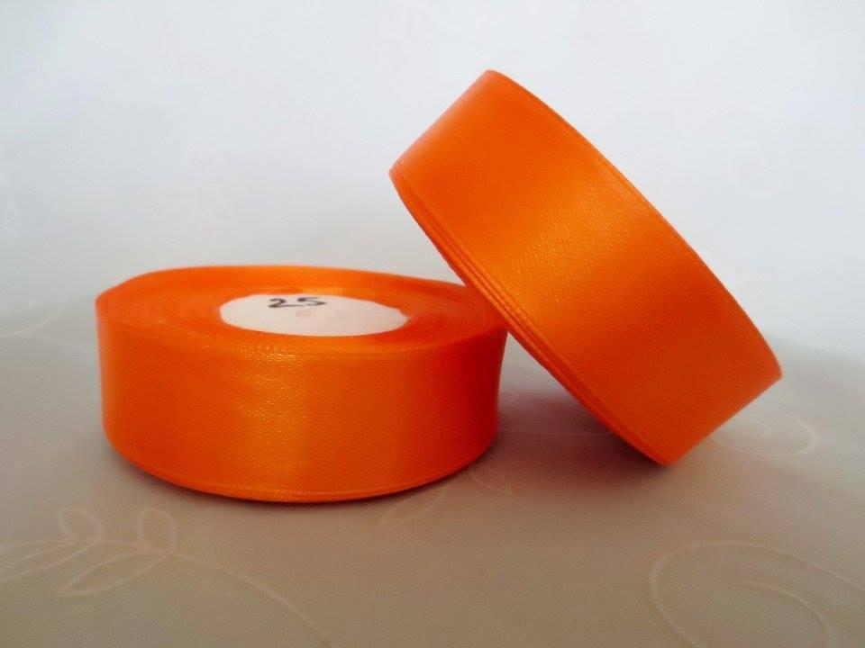 Лента атласная. Цвет оранжевый. Ширина 2.5 см
