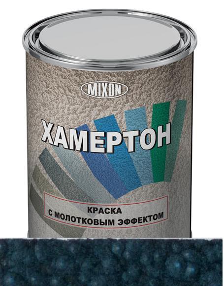 Краска молотковая (с молотковым эффектом) голубая MIXON ХАМЕРТОН 207 0,75л