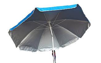 Зонт пляжный с наклоном (металлическая спица)2,20м
