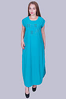 Длинное платье бенгалин. Цвет голубой. Размер 52, 54, 56, 58. Код 581. Хмельницкий