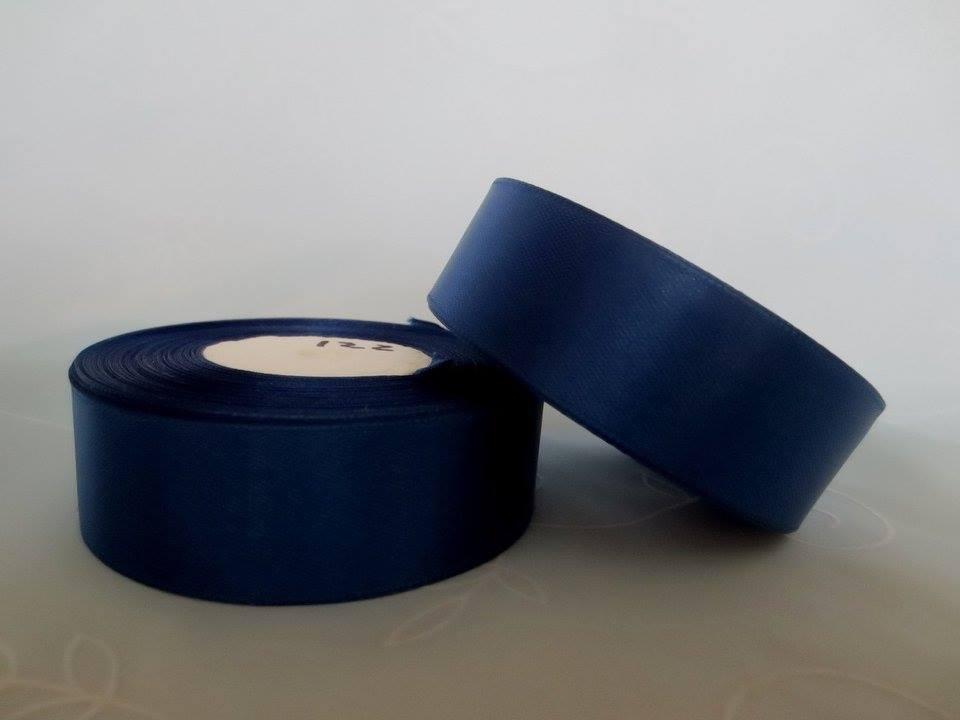 Лента атласная. Цвет  темно синий. Ширина 2.5 см