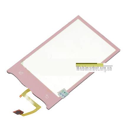 Сенсор (тачскрін) для Lg GT540 рожевий, фото 2