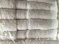 Банные белые полотенца