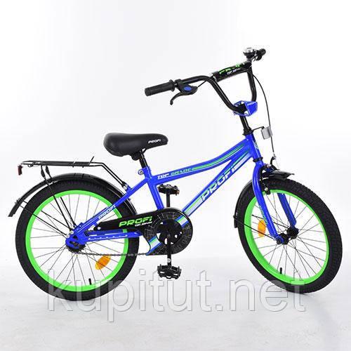 Двухколесный велосипед 20 дюймов PROFI L 20103 синий