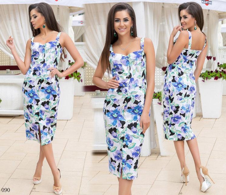 6151f4eec6f Летнее котоновое платье - Гармония Мод в Одессе