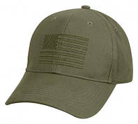 Бейсболка Rothco U.S. Flag Low Profile Cap Olive