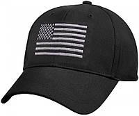 Бейсболка Rothco U.S. Flag Low Profile Cap Black 8978