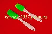 Набор силиконовый из 2-х ( кисточка L18см + лопатка L19.5см )