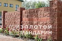 Блок заборный «Золотой мандарин» бордовый, фото 1