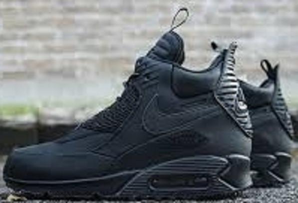 a157939b Кроссовки зимние Nike Air Max 90 SneakerBoot Winter Triple Black от ...