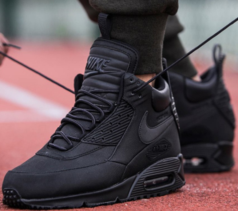 fce34387 ... Зимние кроссовки Nike Air Max 90 SneakerBoot Winter Triple Black, ...