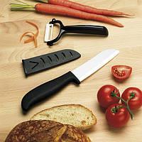 Керамический нож и овощечистка в футляре