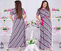 Легкое женское платье на пуговицах, в абстрактный принт. Пояс в комплекте.