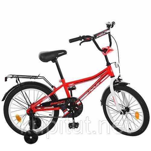 Двухколесный велосипед 18 дюймов PROFI L 118105 красный