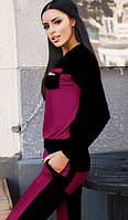 Спортивный костюм женский Монтана бордо  , спортивная одежда