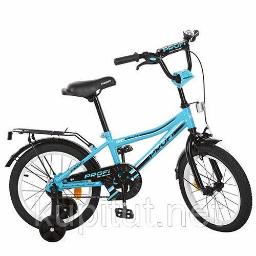 Двухколесный велосипед 18 дюймов PROF1 L 118104 бирюзовый