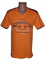 Оранжевая Мужская Футболка Турция Футболка мужская (круглый ворот с вышивкой) VIOLENTO