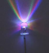 Комплект світлодіодів (упаковка -10шт)переливаються кольорами веселки