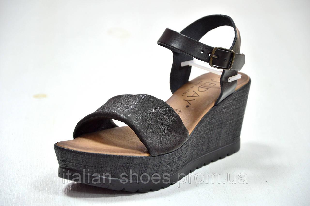 Черные кожаные босоножки на платформе Jeiday 1278929