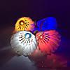 Воланчик светящийся перьевой (утиное перо) белый, фото 3