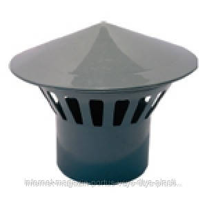 Грибок 110 Вентиляционный ПП Европласт для внутренней канализации серый