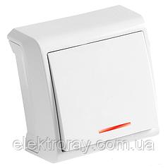 Выключатель с подсветкой белый Viko Vera