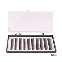 Ресницы шелковые (в двойной коробке - пласт./карт., 08 мм) - EYS-01,