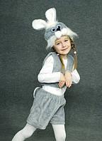 Детский Карнавальный костюм Заяц серый
