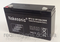 Аккумулятор NOKASONIK 6 v-12 ah 1600 gm!Акция