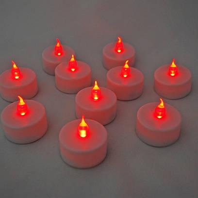Светодиодные свечи, электронные свечи красные