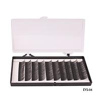 Ресницы шелковые (в двойной коробке - пласт./карт., 14 мм) - EYS-04,