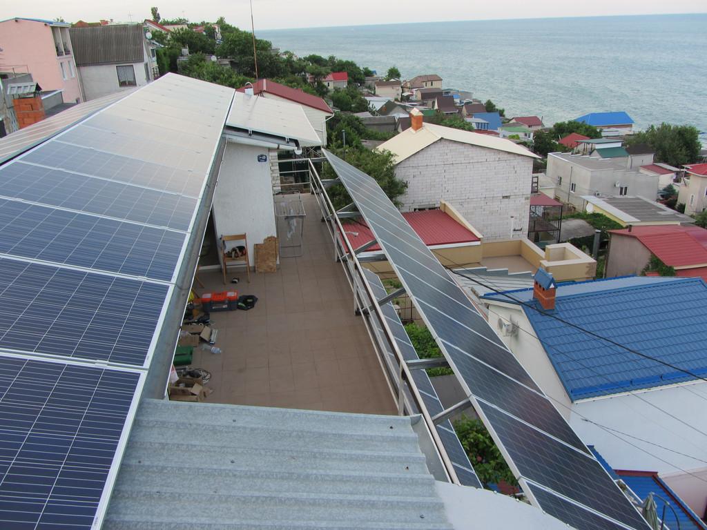 """Одесса, солнечная электростанция 17 кВт под """"зеленый"""" тариф."""