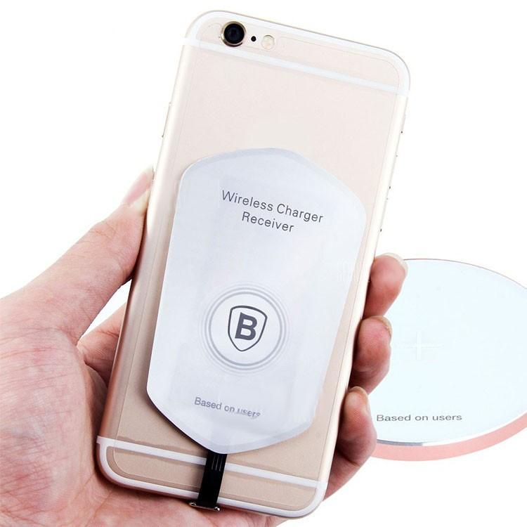 ресивер Iphone для беспроводной зарядки Qi Baseus цена 363 грн