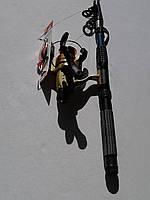 Комплект спиннинг Kalipso 2.40m + Катушка Cobra CB 540 А 5bb, фото 1