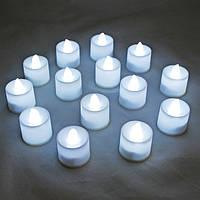 Свечи электронные белые