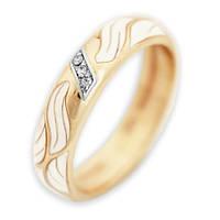 Обручальное кольцо с бриллиантом и эмалью Орио 000000451