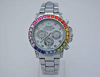 Женские часы Rolex Daytona - Cristal, стальной цвет в кристаллах, фото 1