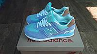 Женские + подростковые кроссовки New Balance 574 голубые с бирюзой замша