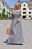 Платье в пол в клетку  вмаг242