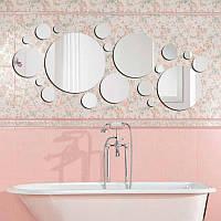Авторское акриловое зеркало «Нandmade Circles», размер 580х870