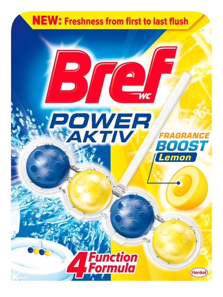 Кульки для унітазу Bref power aktiv Lemon 50 г