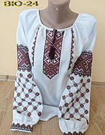 Женская вышитая блузка крестиком ВЮ-24 Жіноча вишиванка 85b69e0dad18d