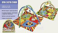 Детский игровой коврик 898-307В/308В c погремушками, фото 1