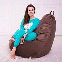 Кресло груша шоколадного цвета