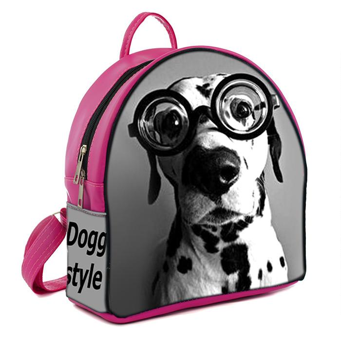 Розовый городской рюкзак с принтом Далматинец