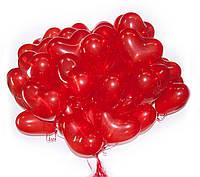 """Воздушные шарики """"Сердце"""" 44 см. 50шт"""