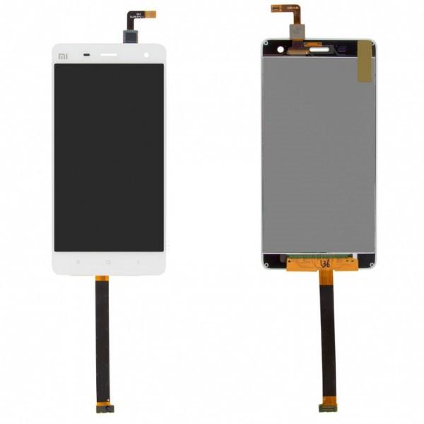 Дисплей (экран) для Xiaomi Mi4 + с сенсором (тачскрином) белый Оригинал