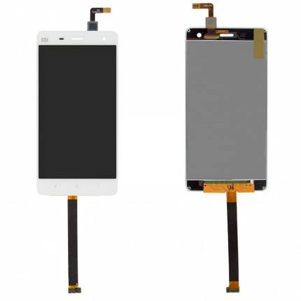 Дисплей (экран) для Xiaomi Mi4 + с сенсором (тачскрином) белый Оригинал, фото 2